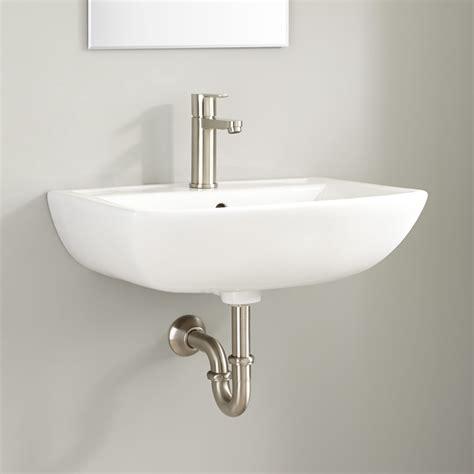 Kerr Porcelain Wallmount Bathroom Sink  Wallmount Sinks