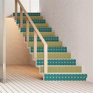 Escalier Carreaux De Ciment : stickers escalier carreaux de ciment oglavee x 2 ambiance ~ Dailycaller-alerts.com Idées de Décoration