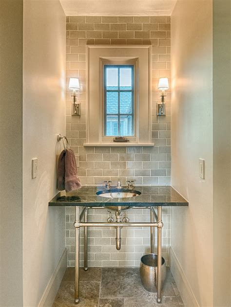 gray subway tile wall ideas pictures remodel  decor