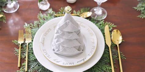 napkin folding christmas tree   fold napkins