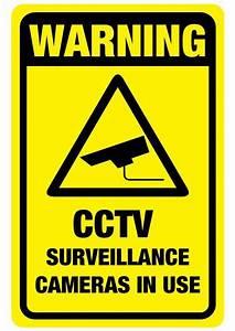 CCTV Warning sticker 150mm x 100mm quality 7 year vinyl | eBay