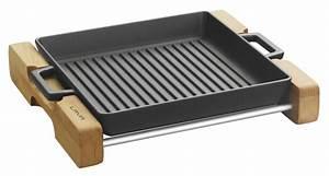 Grill platte tief 26 x 26cm mit integrierten metallgriffen for Grill mit platte