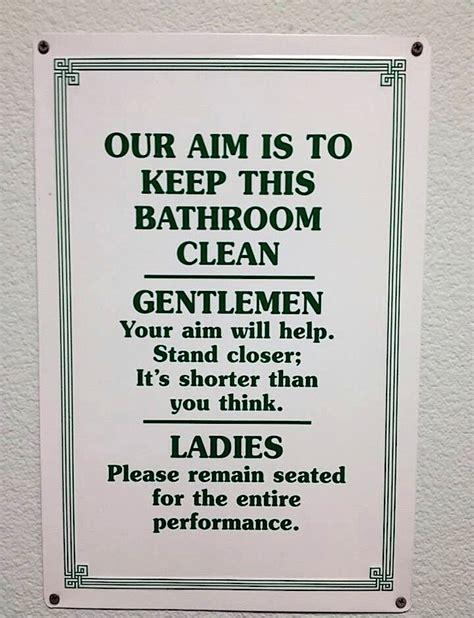 image gallery keep restroom clean sayings