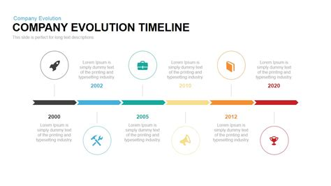 timeline template ppt company evolution timeline powerpoint keynote template slidebazaar