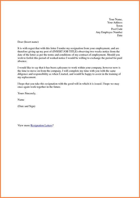 week notice letter  work notice letter