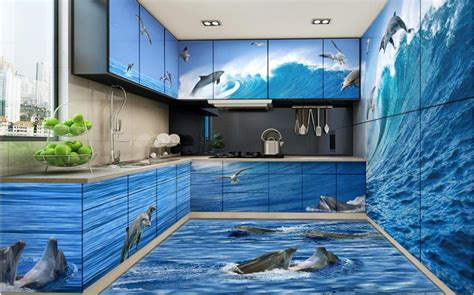 epoxy flooring kolkata 3d stereoscopic wallpaper custom 3d floor pvc self adhesive wallpaper dolphin wave 3d floor