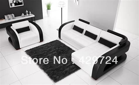 black and white leather sofa set free shipping moden design black and white 123 combination