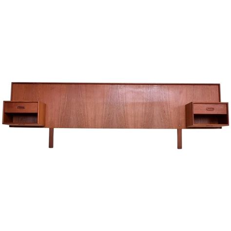 floating nightstand with drawer mid century modern teak headboard floating