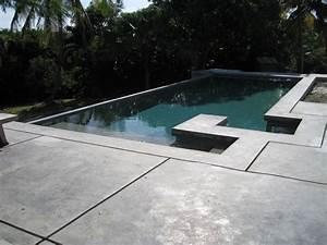 Beton Ciré Piscine : piscine en b ton ~ Melissatoandfro.com Idées de Décoration