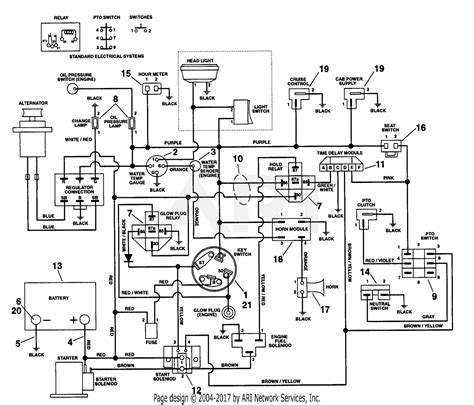 gravely 990003 000101 pm 350 21 hp kubota parts diagram for electrical system