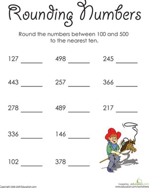 In The High Hundreds Rounding Numbers  Worksheet Educationcom