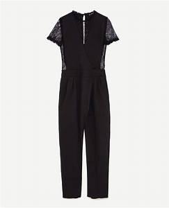 Combinaison Pantalon Femme Habillée : combinaison pantalon en dentelle noire zara chic et ~ Carolinahurricanesstore.com Idées de Décoration