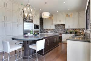 circular kitchen island how wide is the island rectangular section and end
