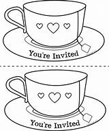 Tea Coloring Cup Teacup Pages Mother Template Getdrawings Printable Invite Mothers Drawing Watercolor Chat Colouring Teacups Sheets Saucer Noir Clipart sketch template