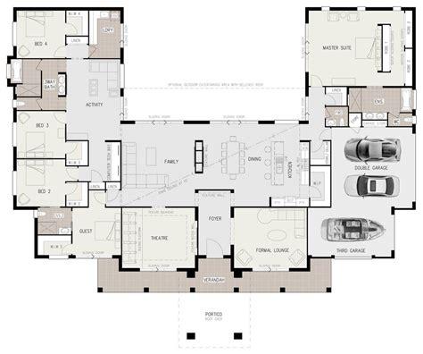 Floor Plan Friday Ushaped 5 Bedroom Family Home
