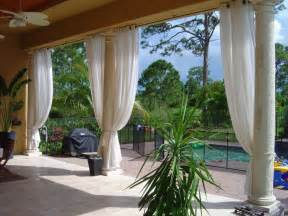 Patio Curtains Outdoor Idea by Outdoor Curtains Project Miami Fl