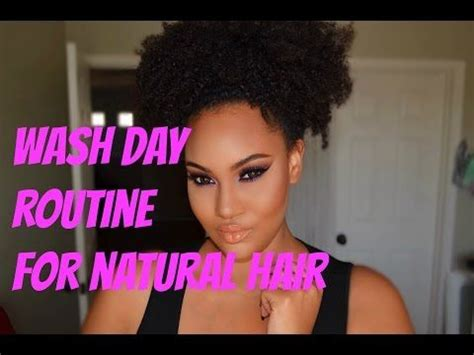 Wash Day Routine For Natural Hair Http