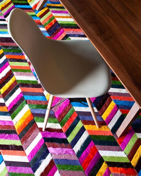 crowley chevron hide rug interiors  color