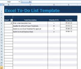 To Do Template Excel Gallery For Gt To Do List Template Excel