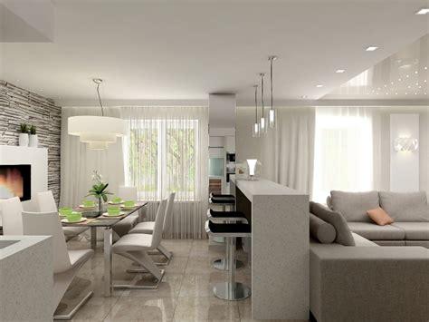 Wohnzimmer Mit Essbereich Einrichten by Wohnzimmer Essbereich Kuche In Einem Beispiel Einrichtung