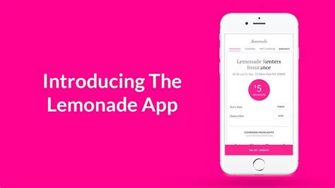 Lemonade offers cheap renters insurance and home insurance lemonade insurance review: Introducing The Lemonade App See It In Action - YouTube