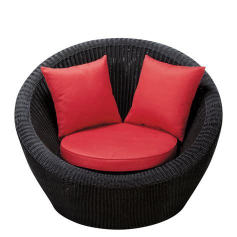fauteuil de jardin en r 233 sine tress 233 e noir porto vecchio