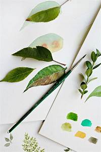 How to paint watercolor leaves