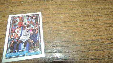 1992-93 Topps #362 Shaquille O'Neal Rookie RC HOF Orlando ...