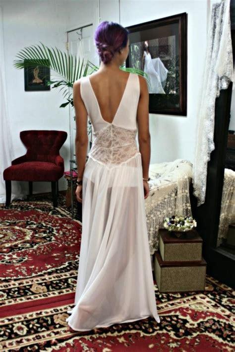 white lace nightgown bridal lingerie wedding sleepwear