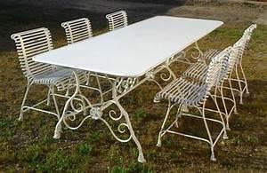 Table De Jardin Fer : table de jardin rectangulaire en m tal fer forg arras ~ Nature-et-papiers.com Idées de Décoration