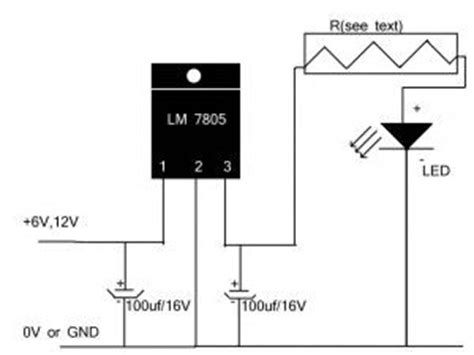 which capacitors for l7805 regulator