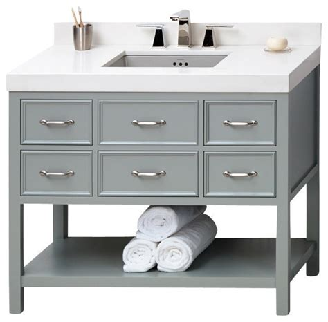 42 inch sink base cabinet white ronbow newcastle solid wood 42 quot vanity cabinet base ocean