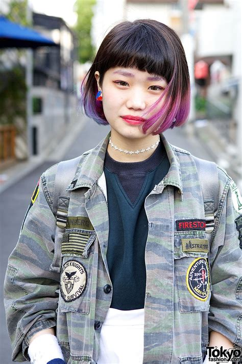 Pinkand Purplejapanese Bob Hairstyles In 2019 Dipped