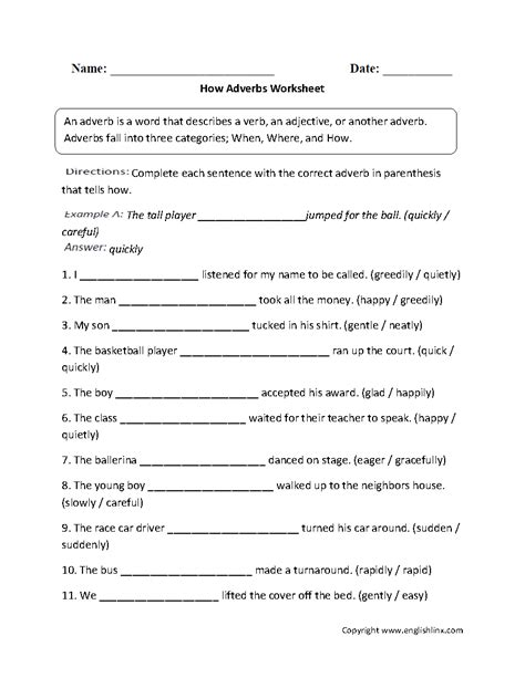 adverb worksheets 4th grade free parts speech worksheets adverb worksheets