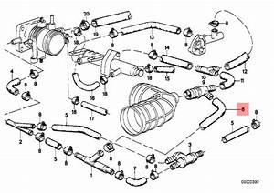 Genuine Bmw E28 E30 Coupe Sedan Vacuum Control Hose Oem