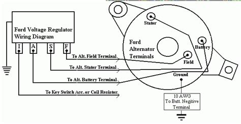 1988 Ford Voltage Regulator Wiring by I An Alternator From A Ford Falcon I Want To Utilize