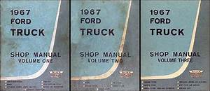 1967 Ford Truck Original Preliminary Shop Manual 67 Pickup
