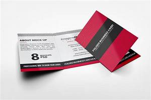 Folded business card mockup v2 by idesignstudionet for Folding business card