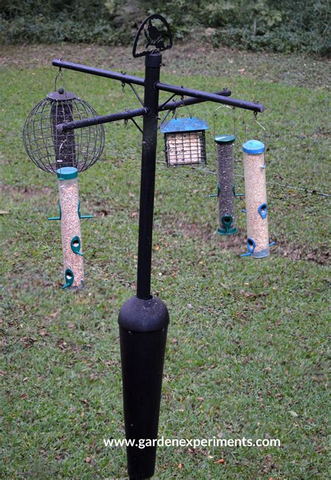 bird feeder poles bird feeder pole stops squirrels from reaching seed