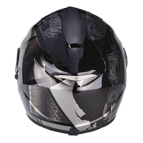 scorpion exo 1400 air scorpion exo 1400 air patch nero silver 14 257 58 helmets motostorm