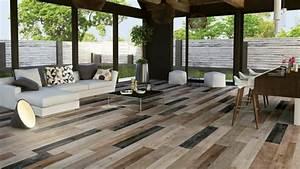 revetement sol imitation parquet carrelage design mirage With idees de jardin avec des galets 18 salle de bains parquet carrelage ideeco