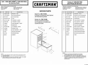 Craftsman 6 Drawer Heavy Duty Ball Bearing Side Cabinet