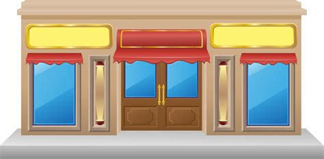 shop facade   showcase   vectors clipart graphics vector art