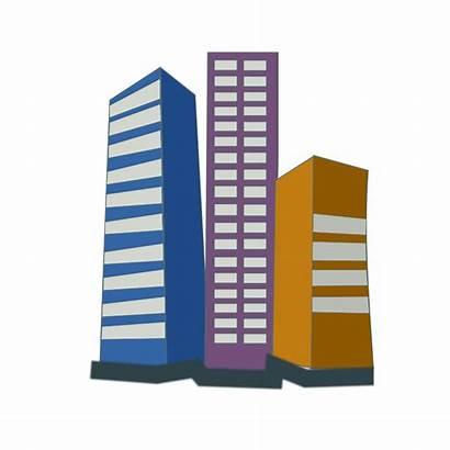 Estate Clipart Icon Office Vector Buildings Illustration