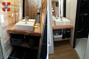 meuble salle de bain vieux bois eva39s chalet renovation With vieux meuble salle de bain