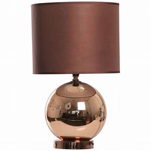 Kliving ostend copper table lamp with matching chocolate for K living table lamp