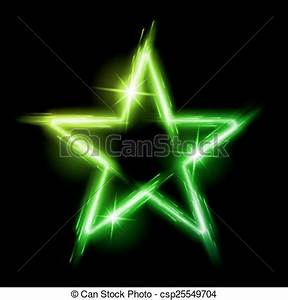 Neon star Neon glowing green star with reflection in space vector clipart Search Illustration Drawings and EPS Graphics csp