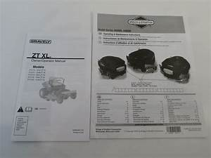 Gravely Zt Xl    Briggs  U0026 Stratton Operator Owners Manual