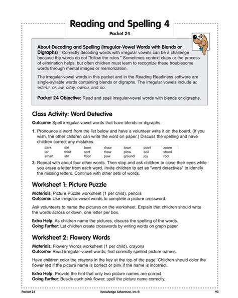 reading  spelling   reading lesson plans