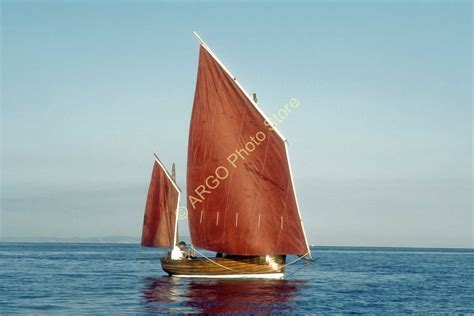 Ebay Fishing Boat Photos by B174 Beer Lugger Devon Classic Sail Fishing Boat Photo